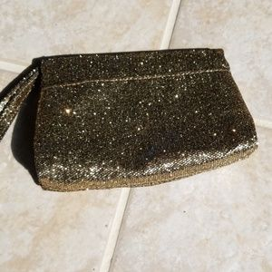 Neiman Marcus Small Event Purse in Gold Glitter